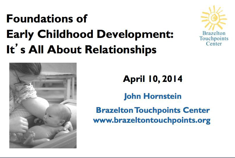 Foundations of Early Childhood Development: It's All About Relationships webinar